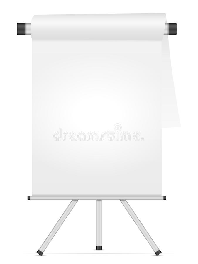 Whiteboard. With tripod on a white background royalty free illustration