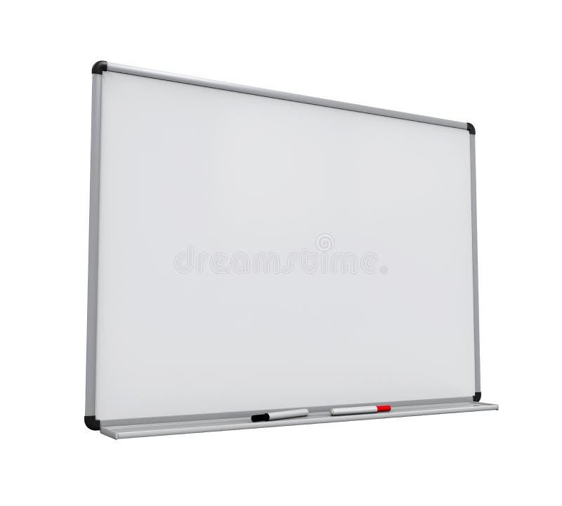 Whiteboard vazio isolou-se ilustração stock