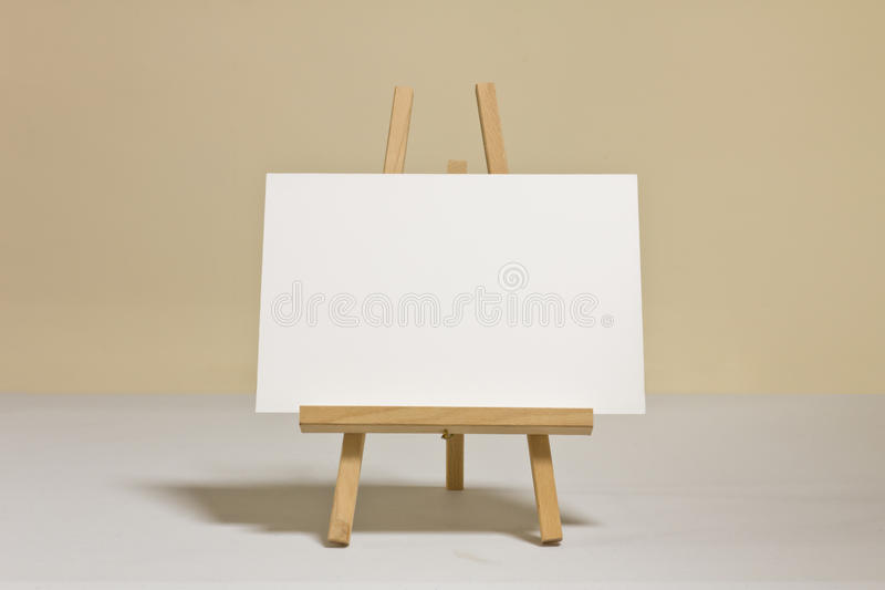 Whiteboard on wooden easel stock photo