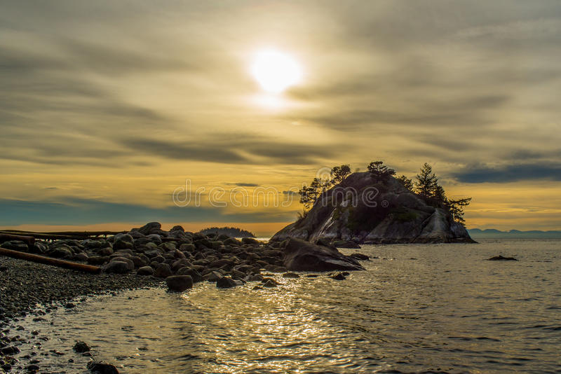 Whitecliff Park West Vancouver Sunset royalty free stock image