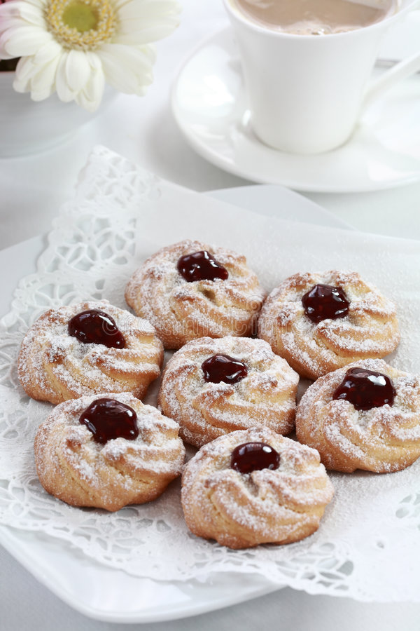 whitecoffee μπισκότων στοκ εικόνα