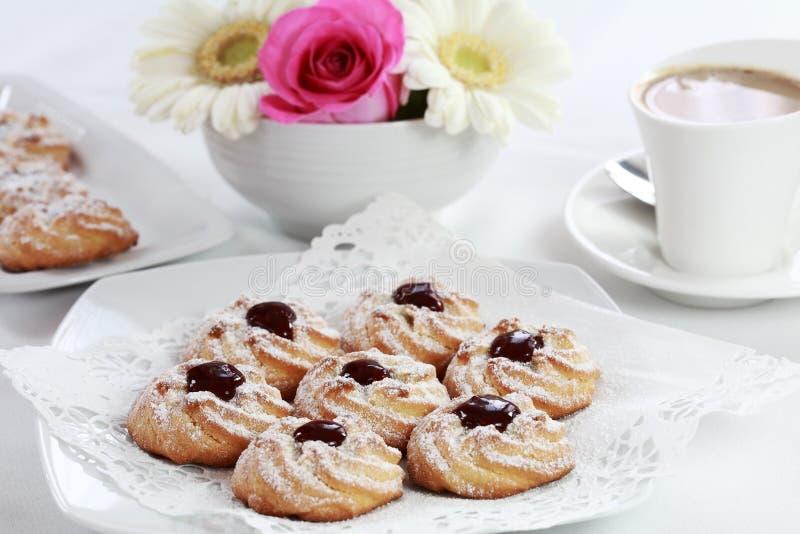 whitecoffee μπισκότων στοκ εικόνα με δικαίωμα ελεύθερης χρήσης