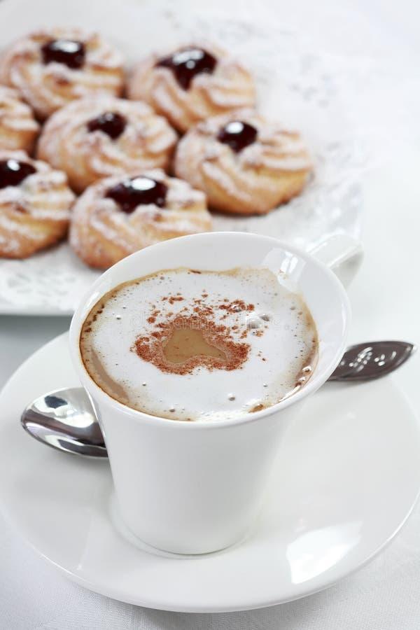 whitecoffee μπισκότων στοκ εικόνες