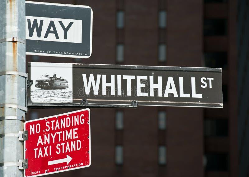 Whitehall gata New York arkivfoton