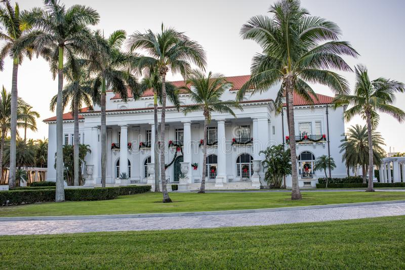 Whitehall Henry M Flaglerhuis in Palm Beach, Florida stock foto's