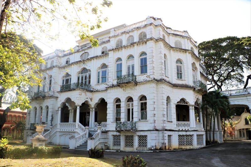 Whitehall a Port of Spain, Trinidad e Tobago fotografia stock libera da diritti