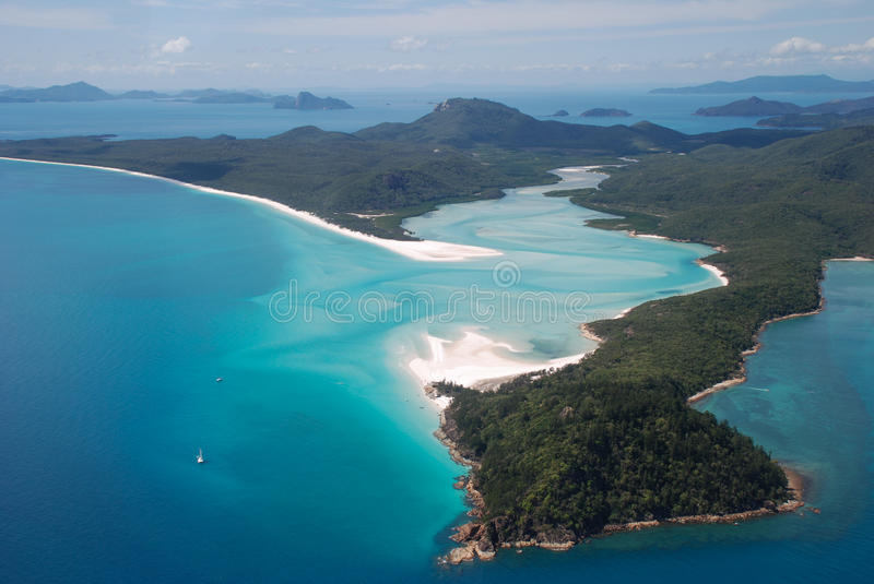 Whitehaven Beach and Hill Inlet, Whitsunday Island royalty free stock photos