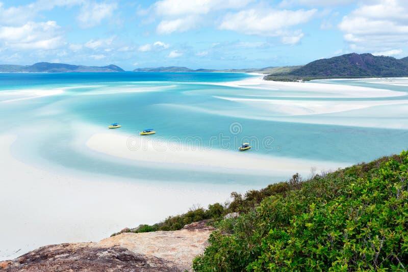 Whitehavenstrand, Pinkstereneiland, Australië stock afbeeldingen