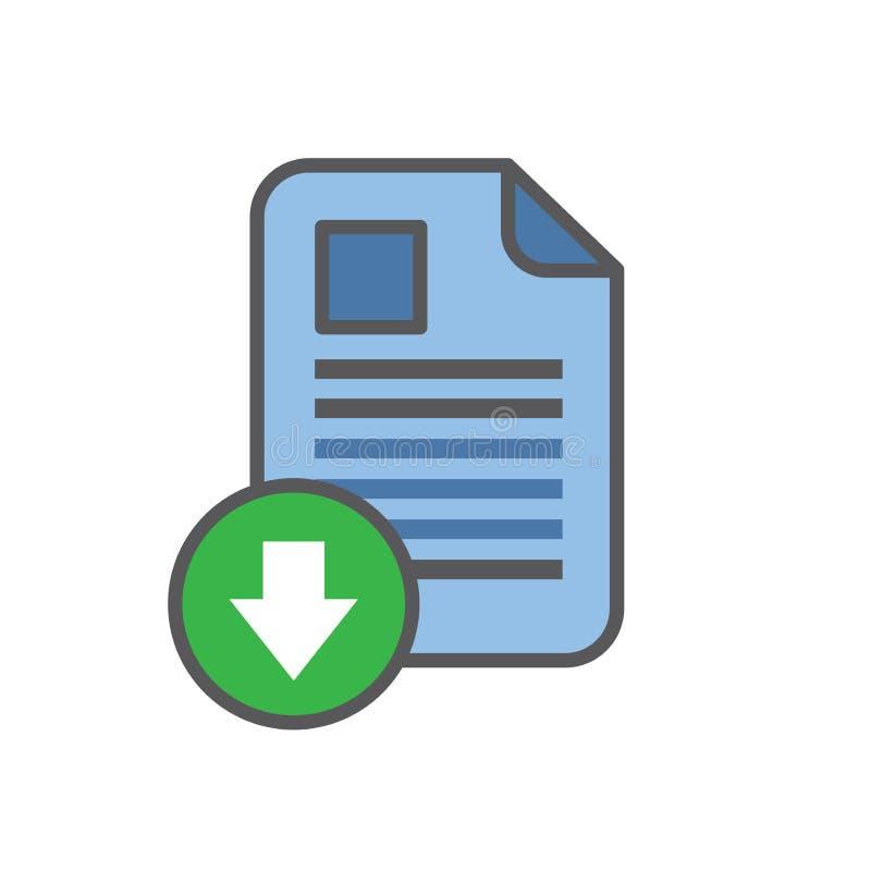 Whitepaper或Ebook与盖子和下载按钮的CTA免费 库存例证