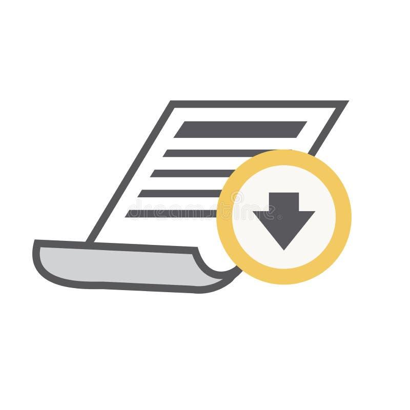 Whitepaper of Ebook CTA met Dekking en Downloadknoop kostenloos royalty-vrije illustratie