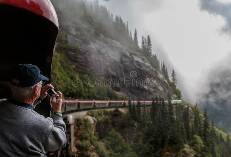 Whitepass - Yukon Route Railroad stock image
