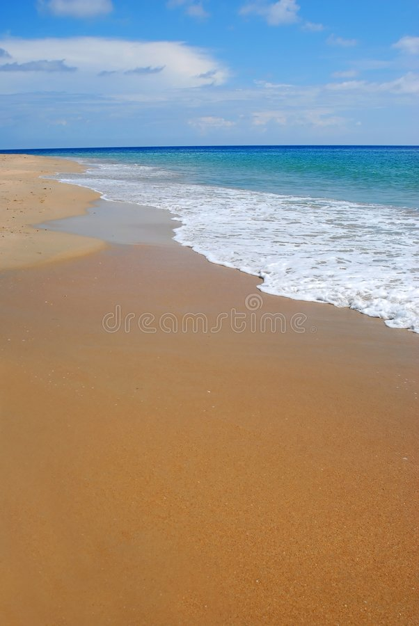Whitewash auf tropischem karibischem Strand stockfoto