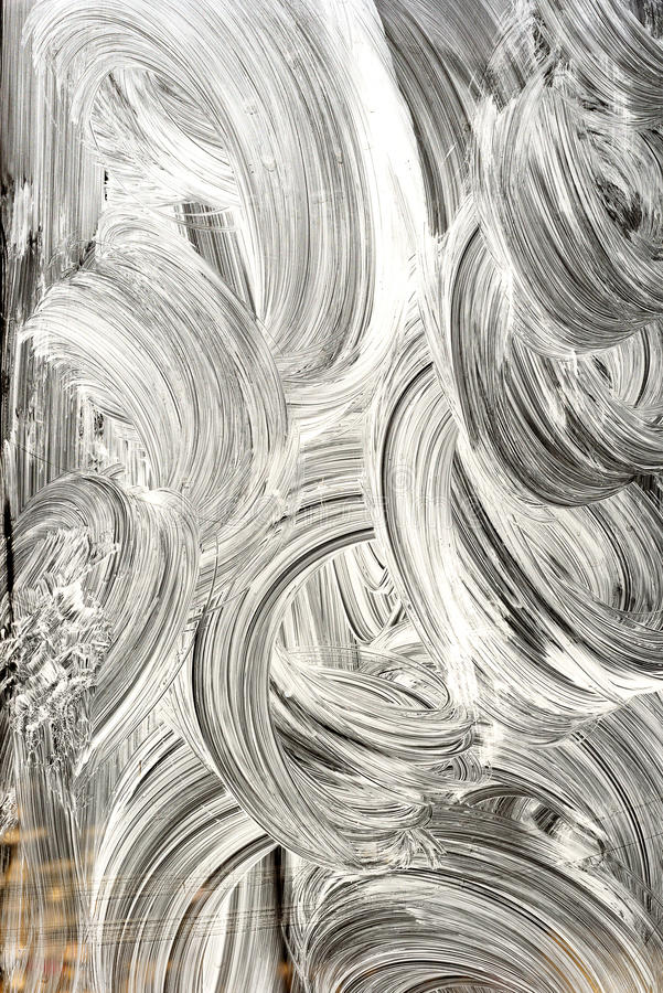 Whitewash paint on Glass stock photos