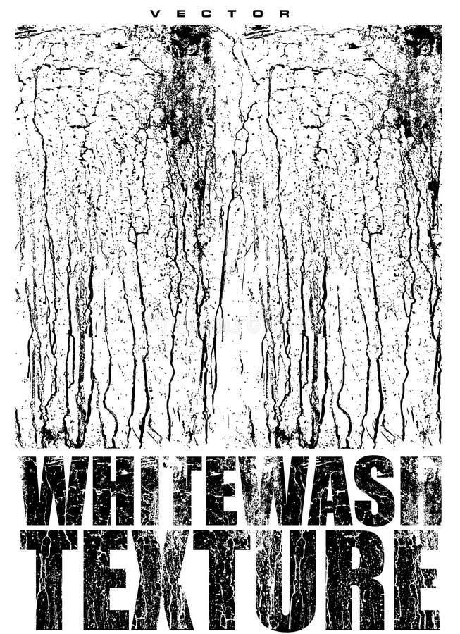 Whitewash texture vector overlay. Abstract whitewash texture for overlay in black and white vector illustration
