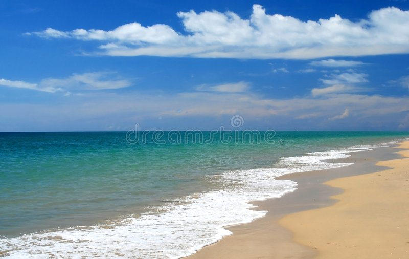 Download Whitewash On Tropical Caribbean Beach Stock Image - Image: 4033251