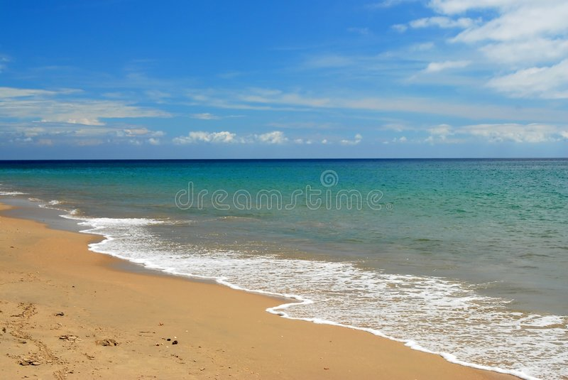 Download Whitewash On Tropical Caribbean Beach Stock Image - Image: 4161619