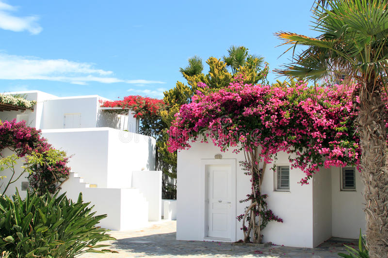 Whitewashed House at Greece royalty free stock image