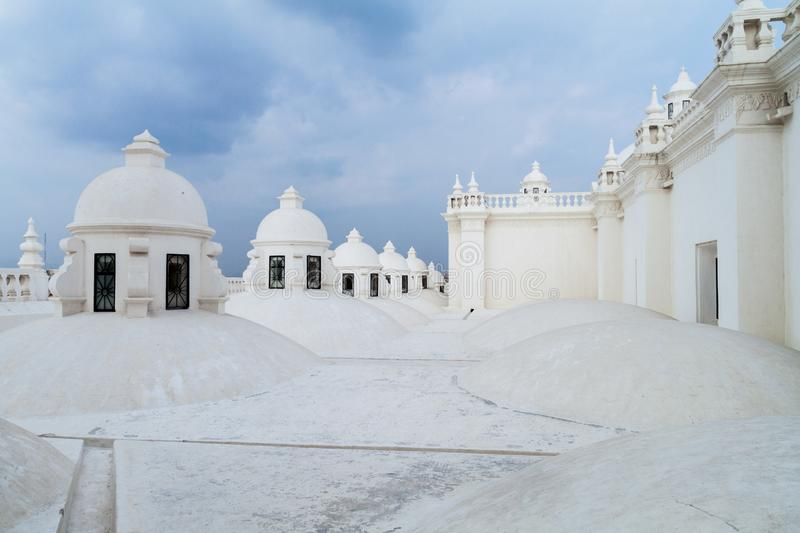 Whitewashed roof of a cathedral in Leon, Nicarag stock image