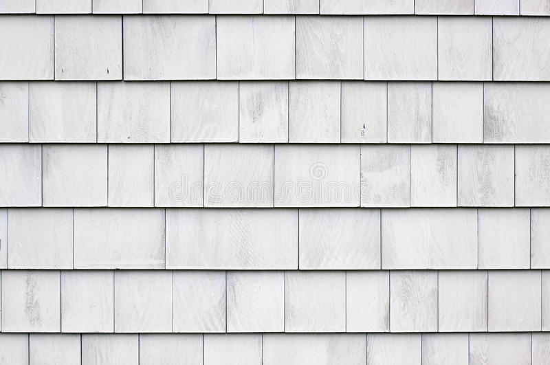 Whitewashed Shingle Siding Royalty Free Stock Photos