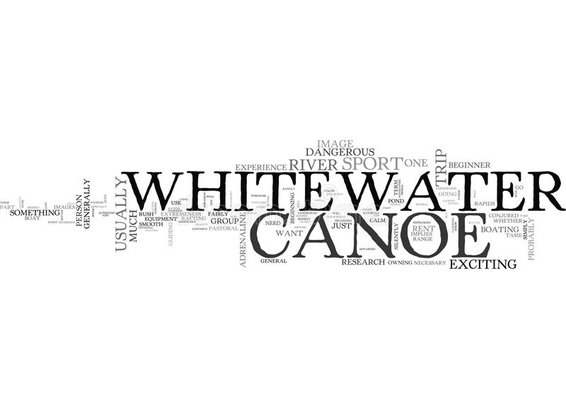 A Whitewater Canoe Buy Or Rent Word Cloud royalty free illustration