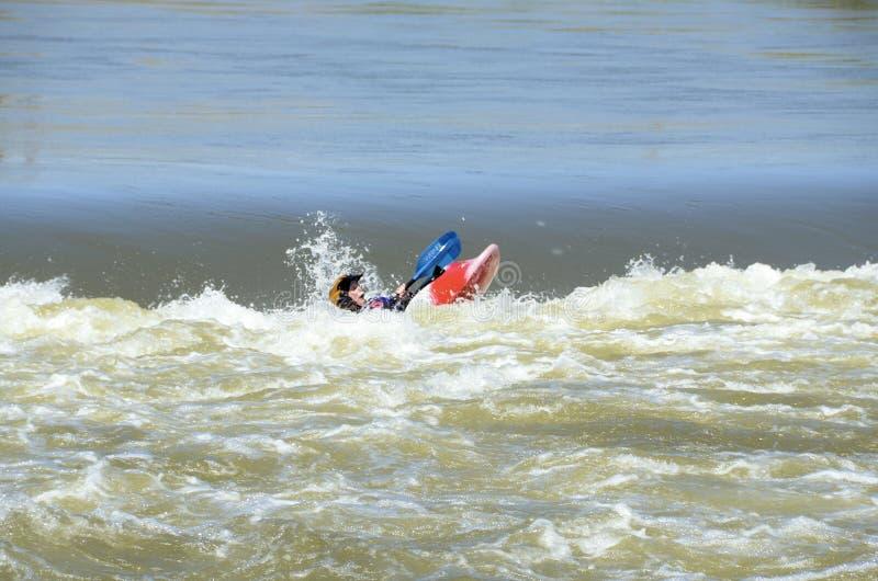 Whitewater Kayaking stock foto