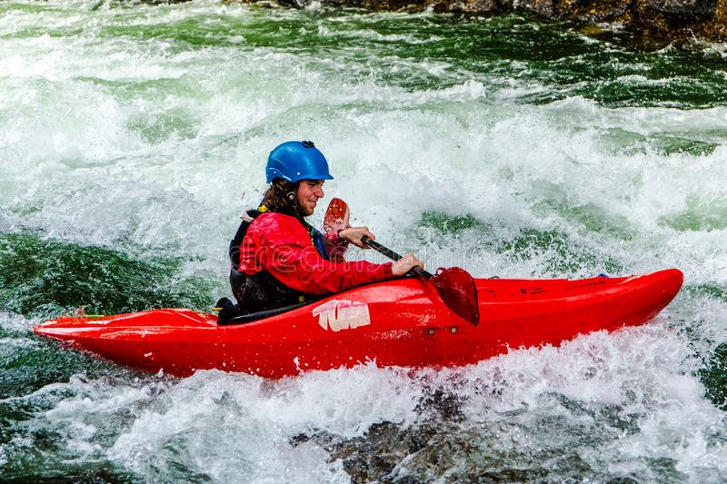 Whitewater Kayaking on the Kaituna River royalty free stock images