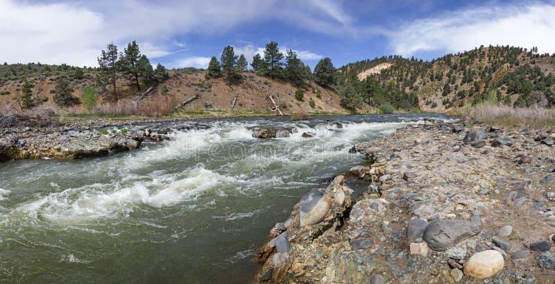 Whitewater rápido en la bifurcación del este de Carson River fotos de archivo libres de regalías