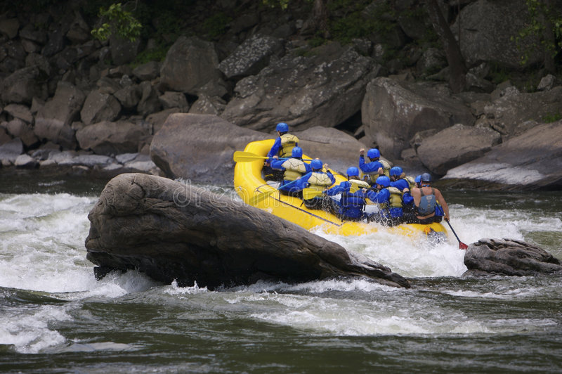 Whitewater Rafting stock foto's