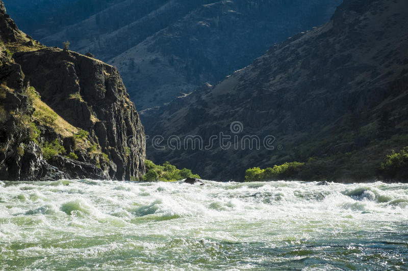Whitewater rapids in Hells Canyon, Idaho. Rough and wild Whitewater rapids in Hells Canyon, Idaho stock photography