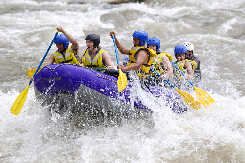 Whitewater River Rafting stock photography