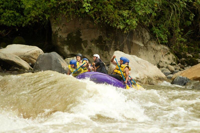 Whitewaterrivier Rafting royalty-vrije stock foto's