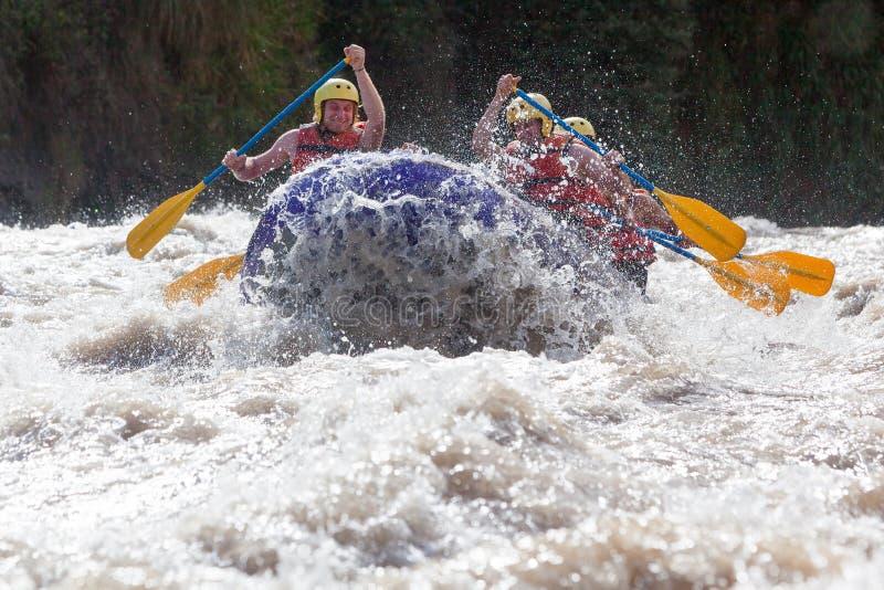 Whitewaterrivier Rafting royalty-vrije stock afbeelding