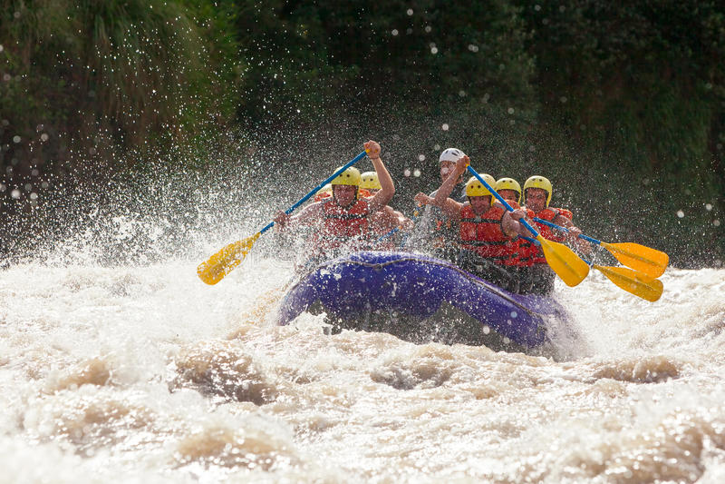 Whitewaterrivier Rafting royalty-vrije stock afbeeldingen