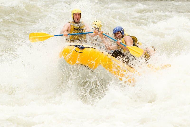 Whitewaterrivier Rafting stock foto