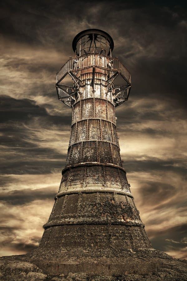 Whitfordvuurtoren, Wales stock afbeeldingen