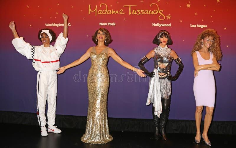 Whitney Houston vaxar figurerar arkivbilder