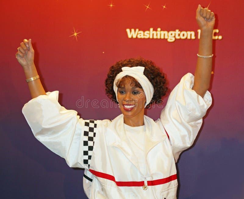 Whitney Houston-Wachsfigur vorgestellt stockfoto