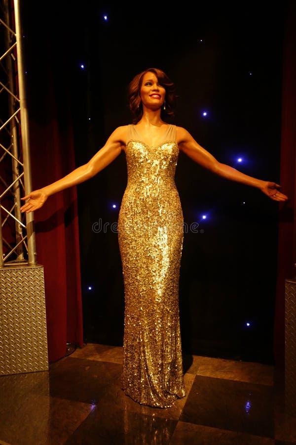 Whitney Houston Wax Figure image stock