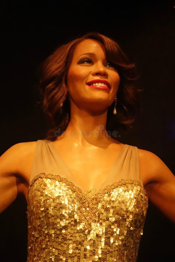 Whitney Houston Wax Figure stock foto's
