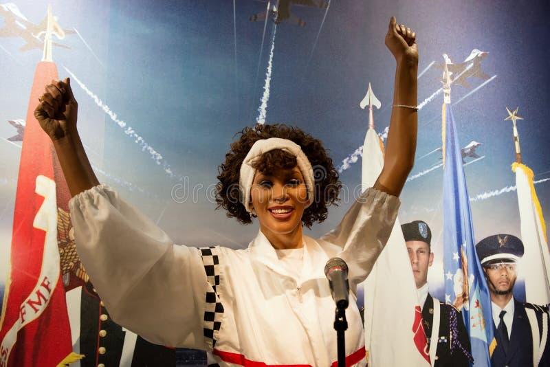 Whitney Houston Wax Figure royalty free stock image
