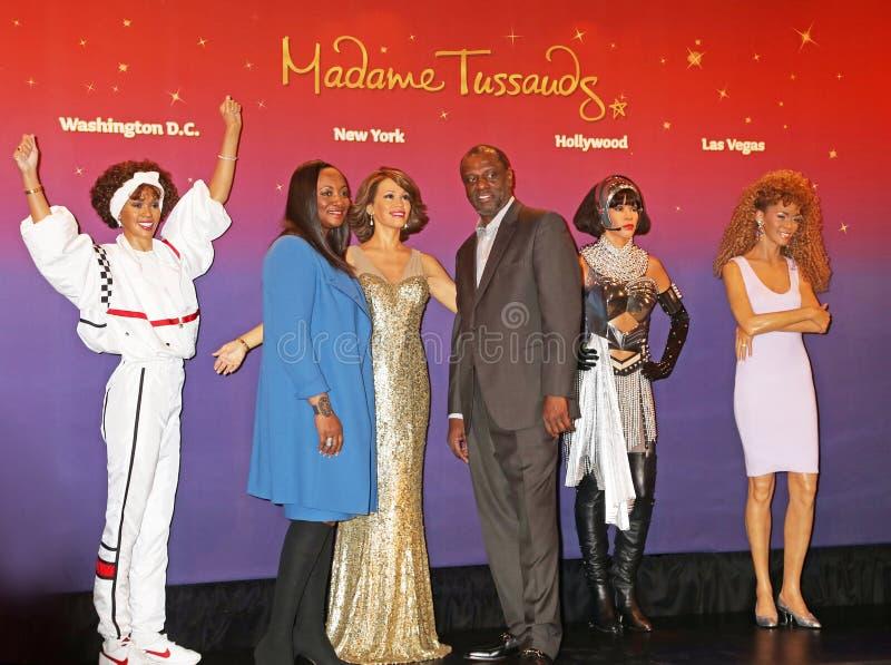 Whitney Houston Wax Figures, stock photo