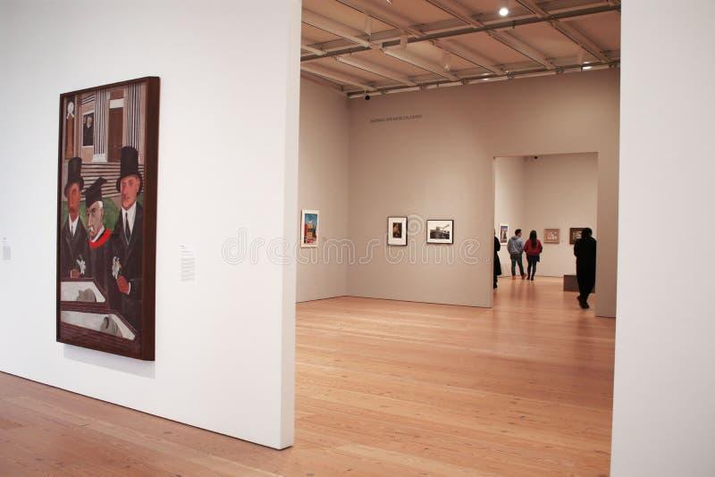 Whitney Museum galleri, ställer ut arkivbild