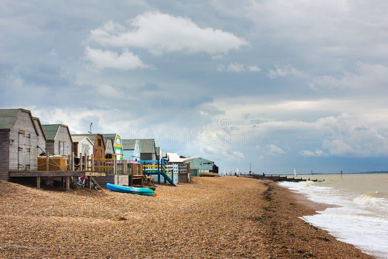 Whitstable海滩小屋 免版税图库摄影