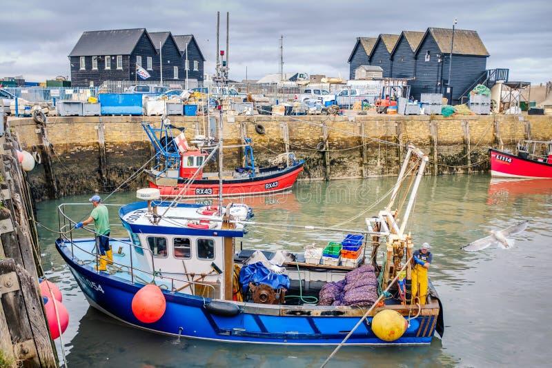Whitstable hamn, Kent, UK arkivbild