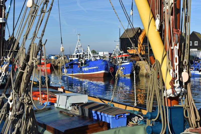 Whitstable Harbour UK royalty free stock images