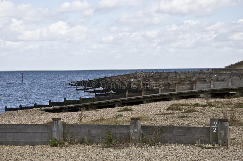 Whitstable Seafront arkivfoton
