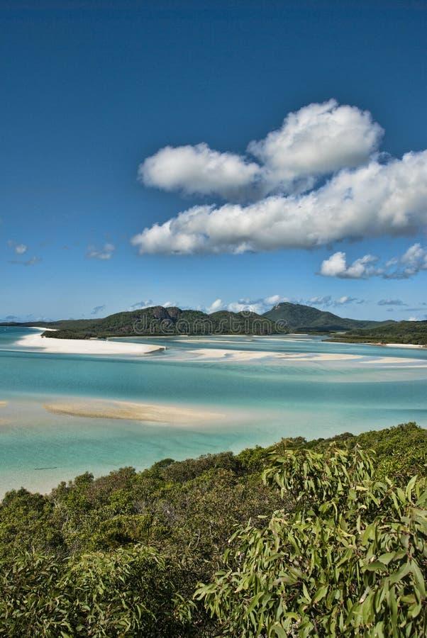 Whitsunday öar nationalpark, Australien arkivbild