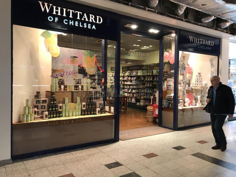 Whittard商店在伦敦 库存照片