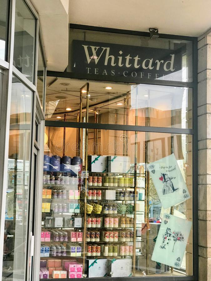 Whittard store. Whittard of Chelsea is an international retailer of coffee, tea and various items that are used for the consumption of hot drinks. Instant tea royalty free stock images
