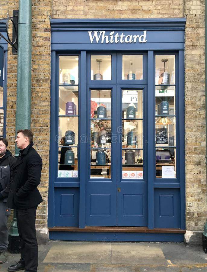 Whittard store. Whittard of Chelsea is an international retailer of coffee, tea and various items that are used for the consumption of hot drinks. Instant tea stock photography